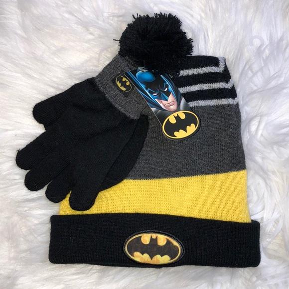15d0c3efe43f6 🌴2  25🌴 BATMAN Pom hat beanie mittens gloves